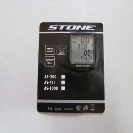 Bike Computer Stone AS-411, negru - BikeCentral